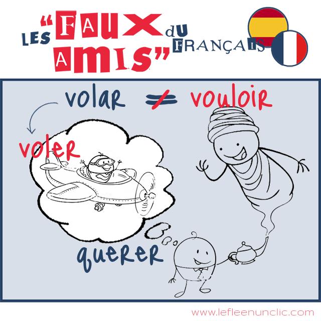 les faux amis du français, vouloir, volar, espagnol, FLE, le FLE en un 'clic'