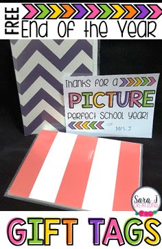 10 FREE Gift Tags for end of the year student gifts and gift ideas that won't break the bank for the teacher.  Each gift tag comes in two different sizes with a space to sign your name and write a message on the back if you want.