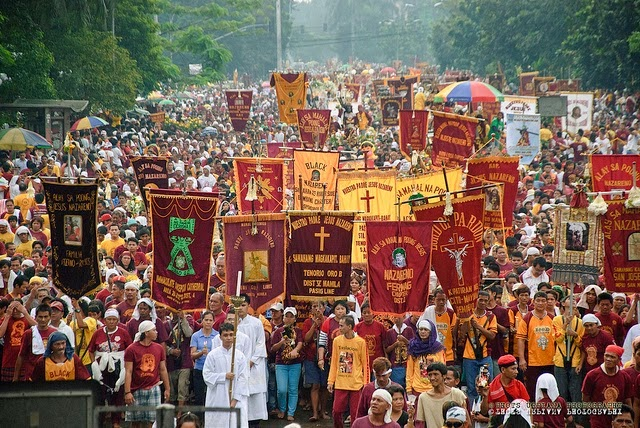 Feast of Black Nazarene mass, procession 2016