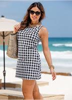 Rochie de plajă mini cu formă sexy (bonprix)