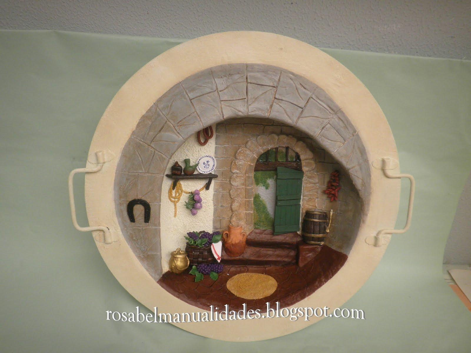 Rosabel manualidades brasero antiguo decorado - Rosabel manualidades ...