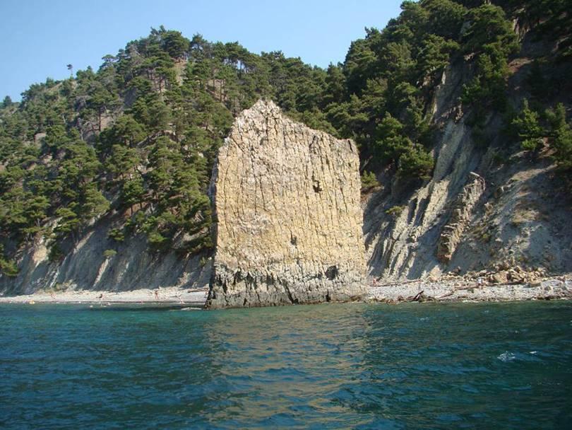 Skala-Parus — Sail Rock, Monolith in the Krasnodar on the Black Sea coast in Krasnodar Krai, Russia