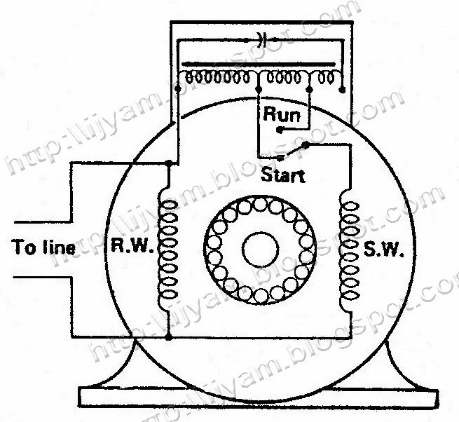 Electrical Wiring Diagrams Single Phase Capacitor Start Capacitor