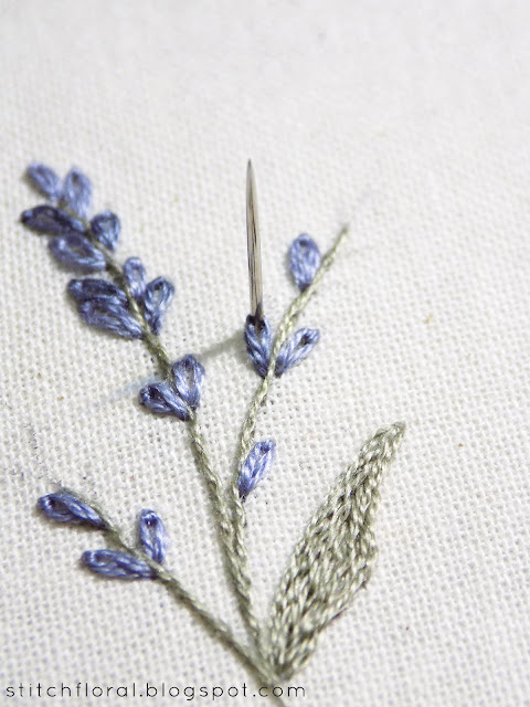 Lavender: embroidered miniature