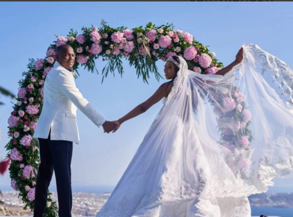 Stephanie coker and Olumide Aderinokun's destination wedding