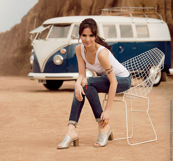 Moda primavera verano 2017 calzado femenino. Lady Stork primavera verano 2017 con Natalia Oreiro, zapatos y sandalias.