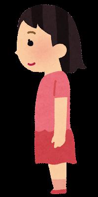 姿勢の良い女の子のイラスト