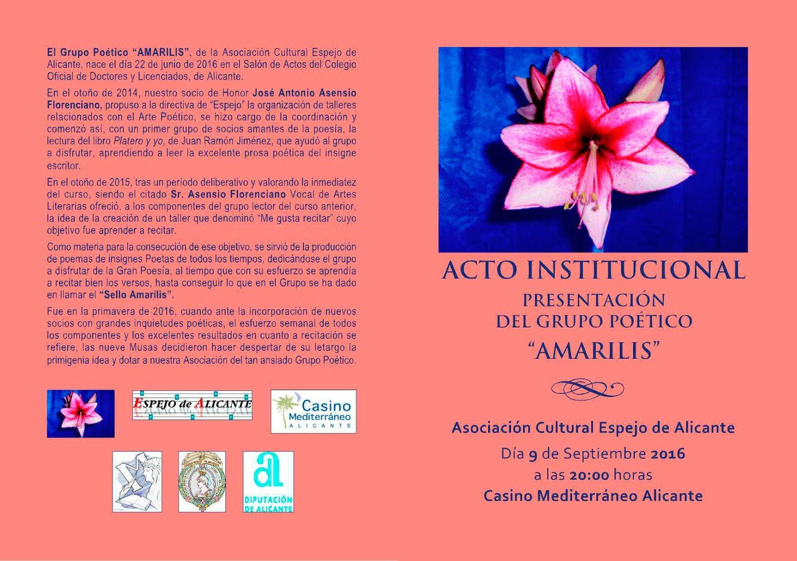 Espejo de Alicante: Próximas actividades y Comunicados