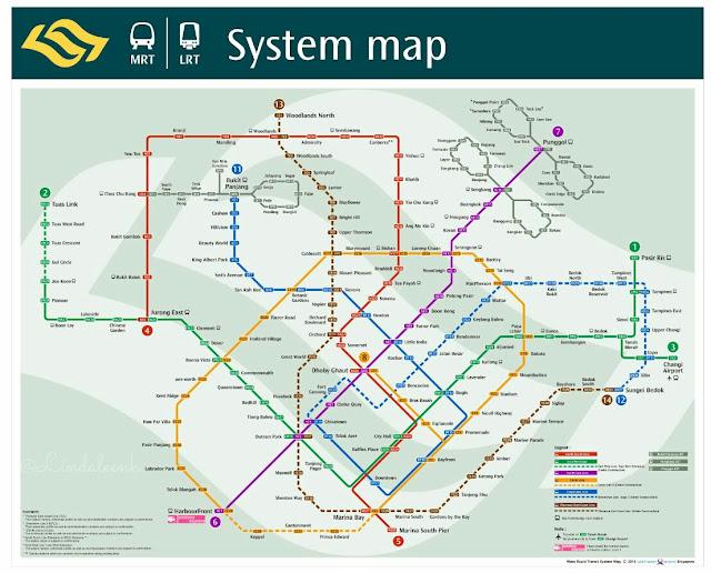 Peta MRT/LRT Singapura