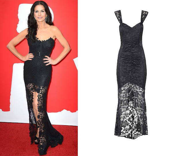 Catherine Zeta-Jones in Maria Lucia Hohan – Los Angeles 'RED 2′  Premiere