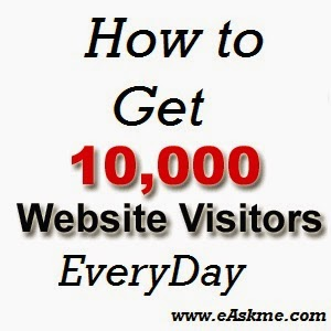 How to Get Ten Thousand Pageviews in One day : eAskme