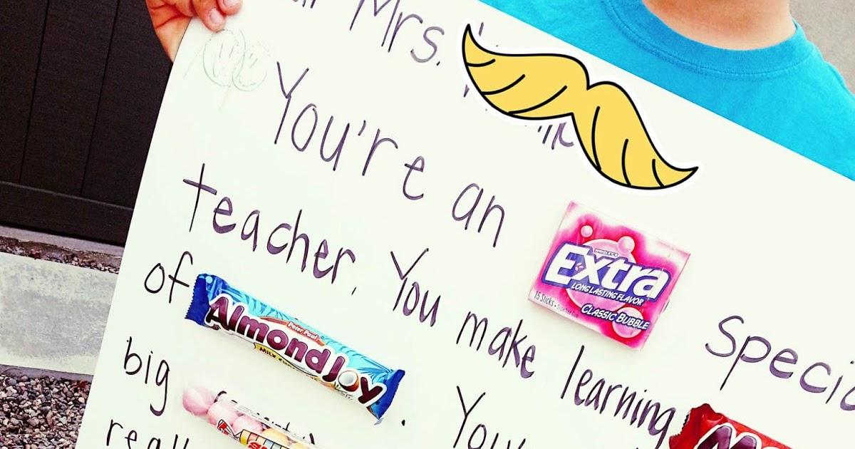 Funky Polkadot Giraffe Teacher Appreciation Giant Teacher Candy Gram