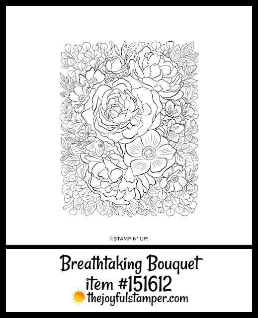 Stampin' Up!'s Breathtaking Bouquet background stamp in 2020 Mini Catalog