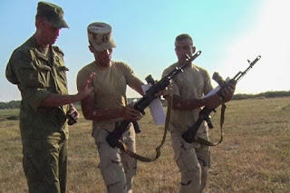 الجنود المصريين خلال التدريبات فى روسيا