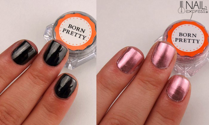 Born pretty store Mirror nail powder_ocena_swatch
