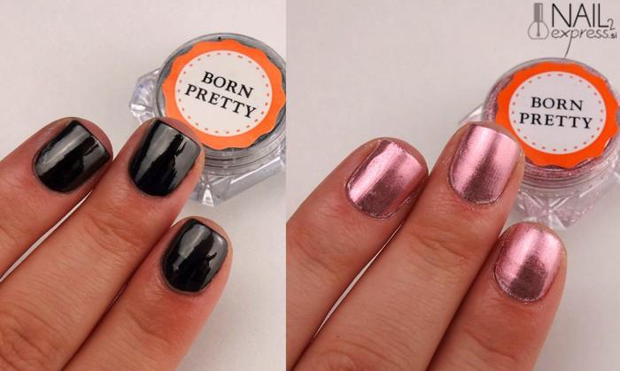 Born pretty store Mirror nail powder_ocena_swatch