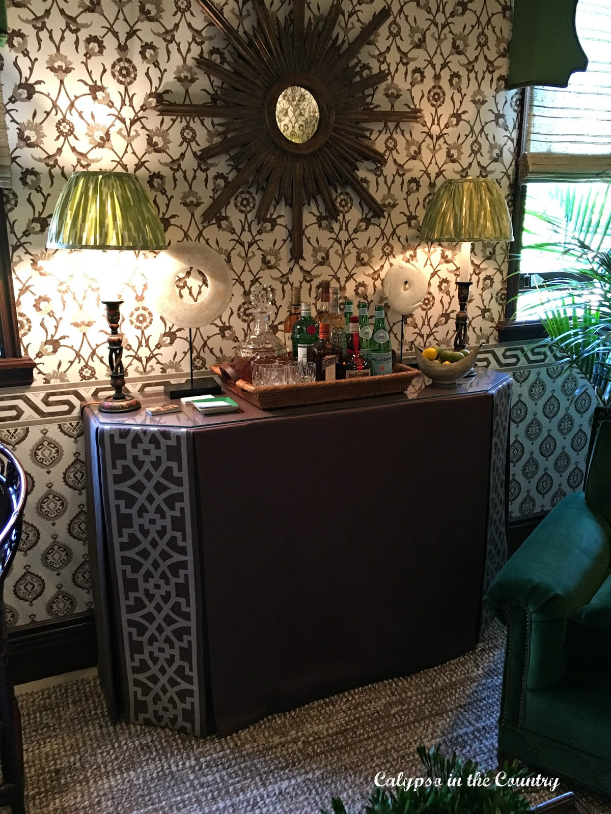 Elizabeth Guest Interiors LLC - Bar Cart Inspiration from a Designer Showhouse