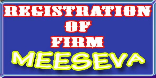 Registration of Firm Apply Meeseva
