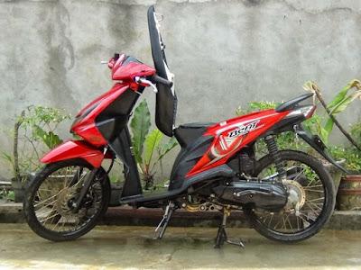 Modif Honda Beat Fi Warna Merah Jari Jari