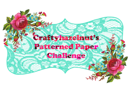 I won at Craftyhazelnut's Patterned Paper Challenge