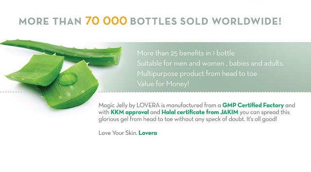 Magic Jelly Lovera | Magic Jelly Lovera mengandungi khasiat lidah buaya untuk kecantikan