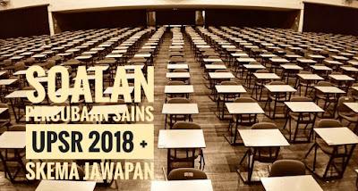 Soalan Percubaan Sains UPSR 2018 + Skema Jawapan
