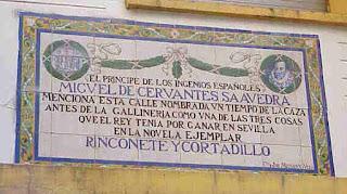 Patio de Monipodio, Sevilla y Cervantes, Novela picaresca cervantina