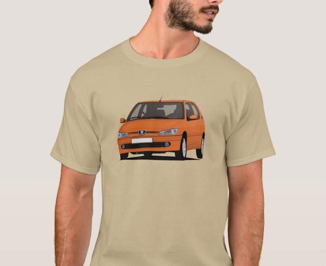 Orange Peugeot 306 GTi-6 Tees