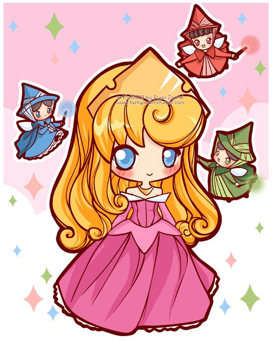 princess Aurora chibi người đẹp ngủ trong rừng 6