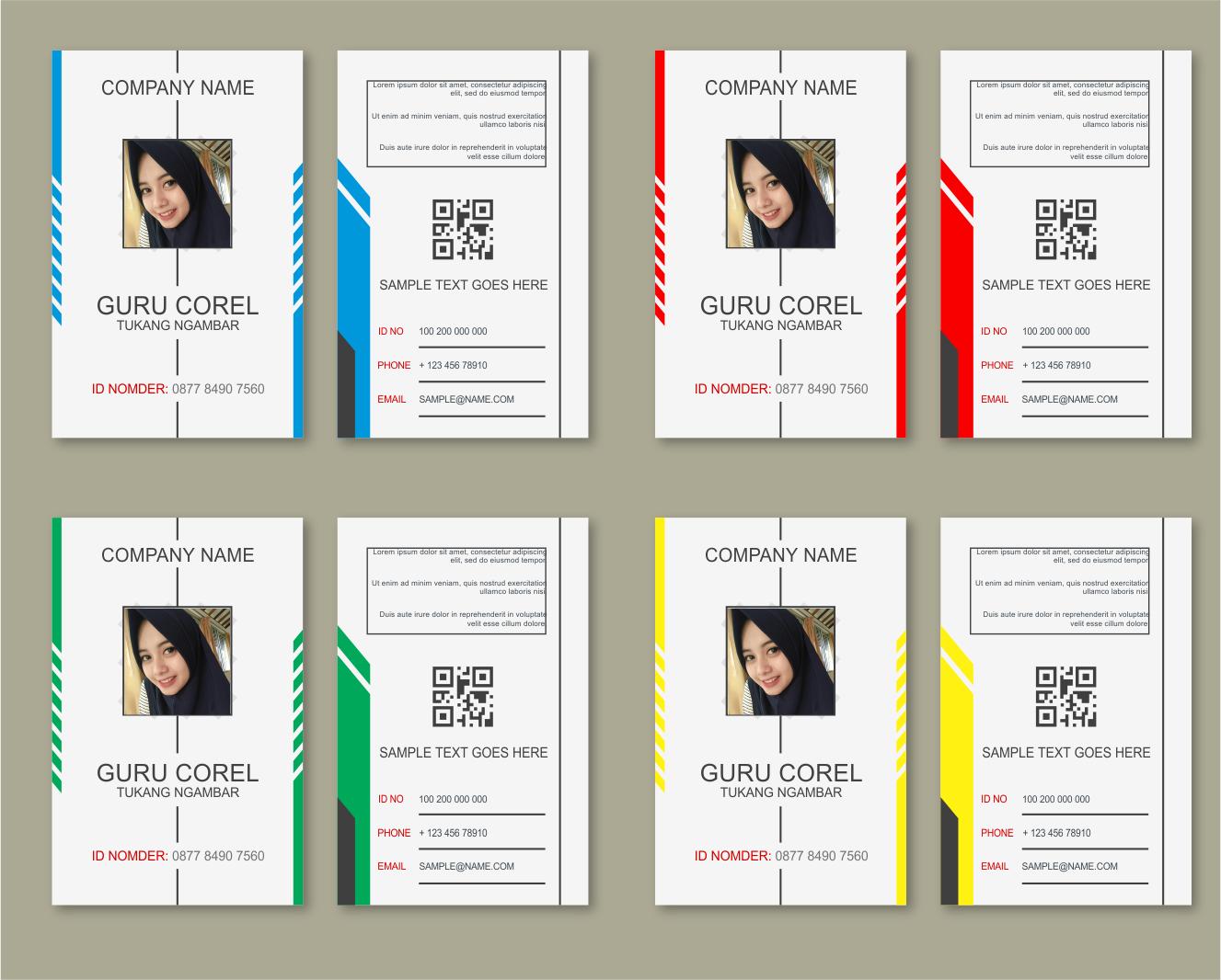 Download 4 KTA dan ID CARD CDR Free   guru corel