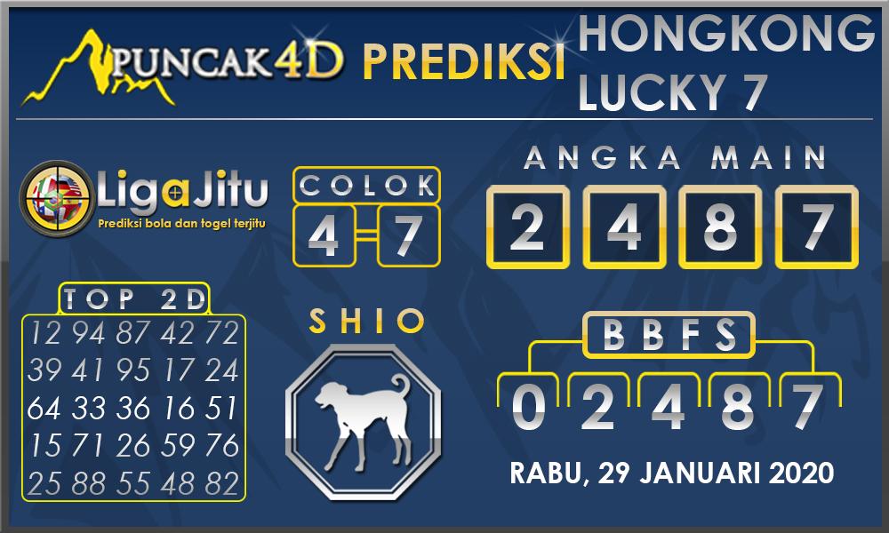PREDIKSI TOGEL HONGKONG LUCKY7 PUNCAK4D 29 JANUARI 2020