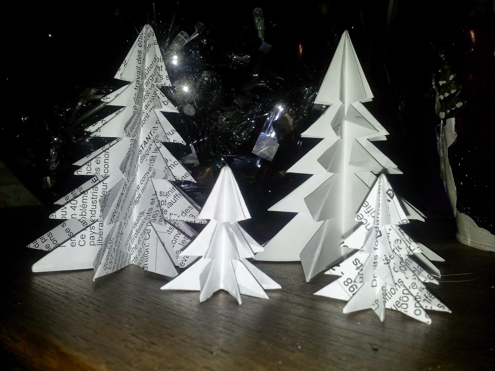 DIY Noël - Forêt de sapins en origami