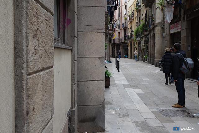 carrer dels assaonadors i el rec comtal