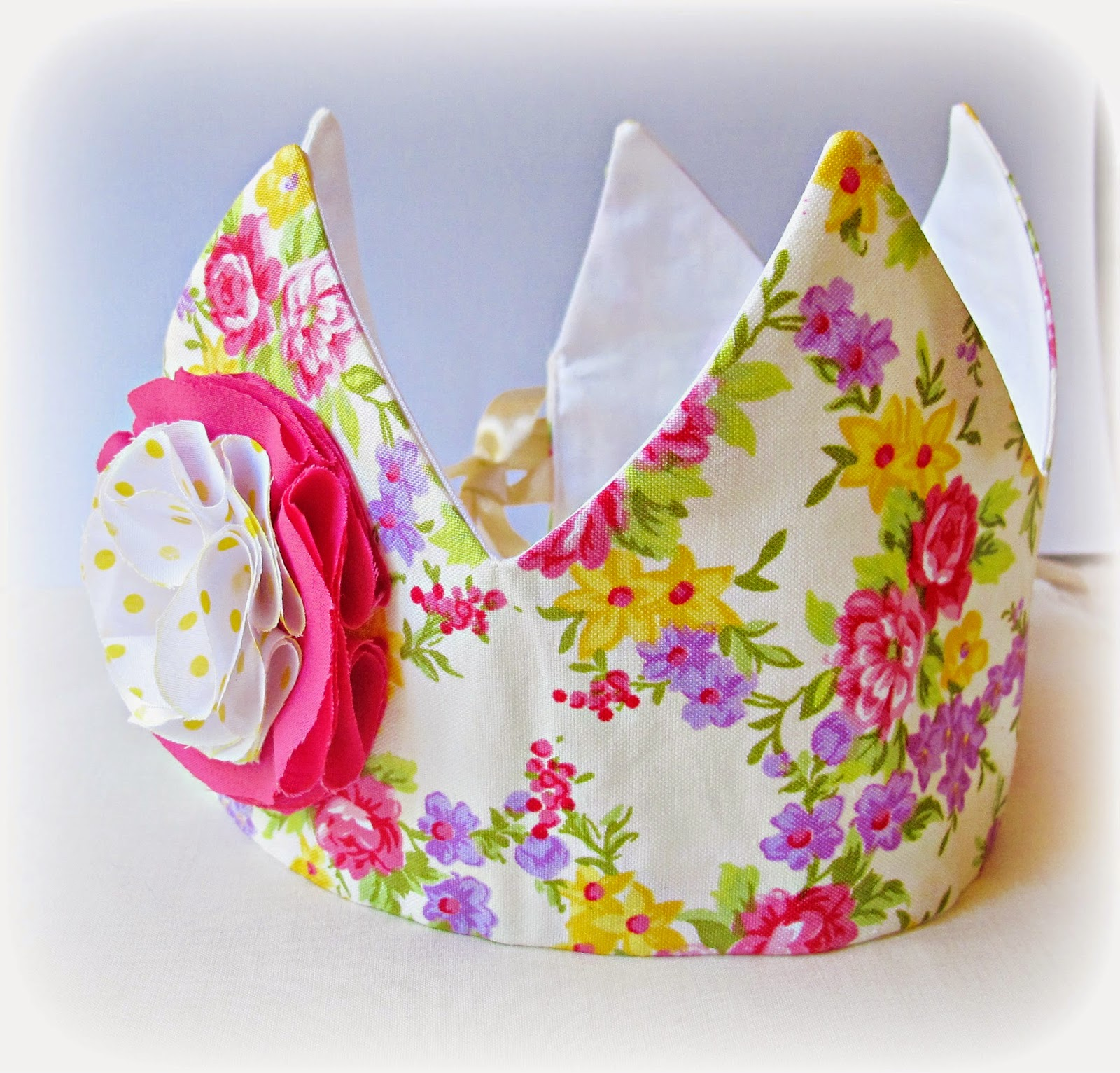 image fabric crown tutorial diy flower embellishment floral