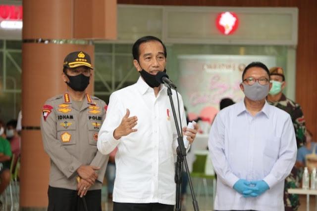 Idham Azis Damping Jokowi Cek Kesiapan Pelaksanaan Normal Baru di Summarecon Mall Bekasi
