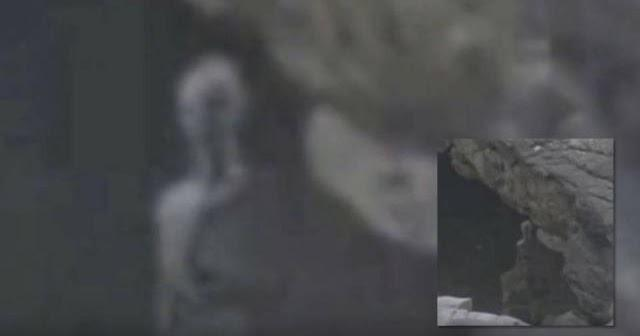 Grey Alien Filmed Hidden Behind A Rock In Machu Picchu, Peru?