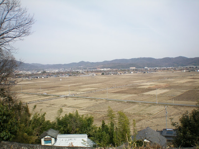 Vistas de la llanura de Kibi desde la tumba Kofun