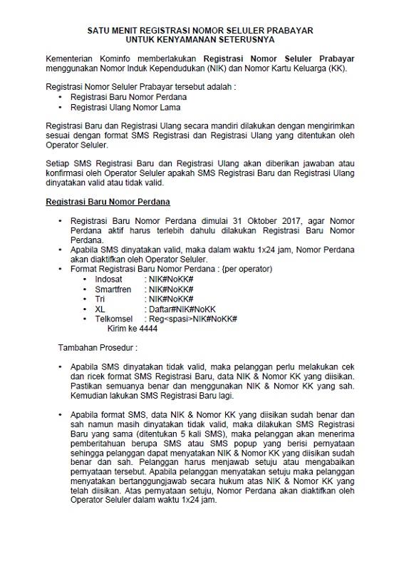Panduan Cara Registrasi Baru \/ Registrasi Ulang Kartu Sim Seluler Prabayar Indosat, Smartfren
