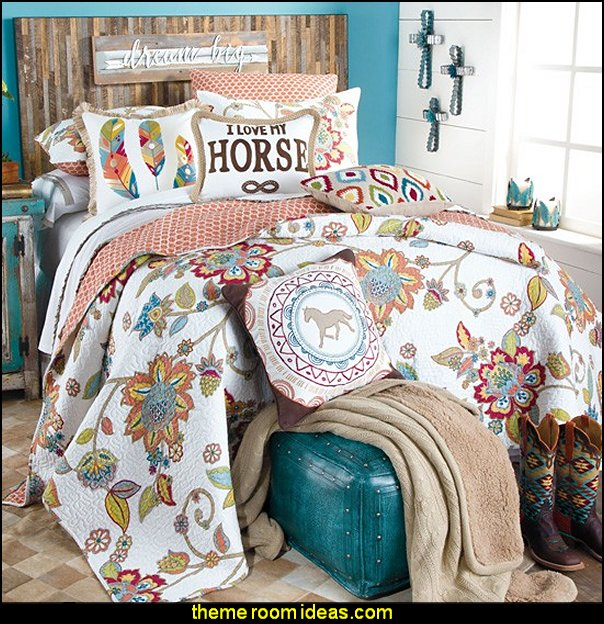 Superb Horse Themed Bedroom Decorating Ideas Part - 7: Dream Big Bedding Collection Girls Horse Theme Bedding Decorating Horse  Theme Bedrooms