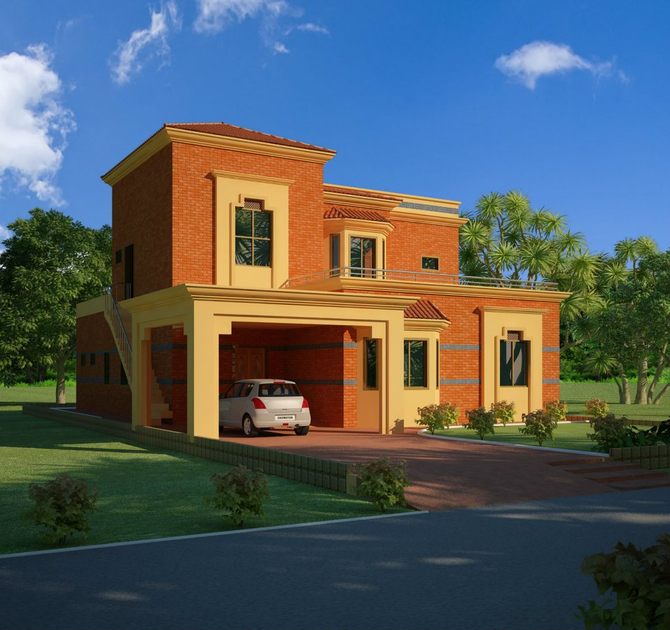 Home Design In Pakistan: 3D Front Elevation.com: Lahore Pakistan 3d Front Elevation
