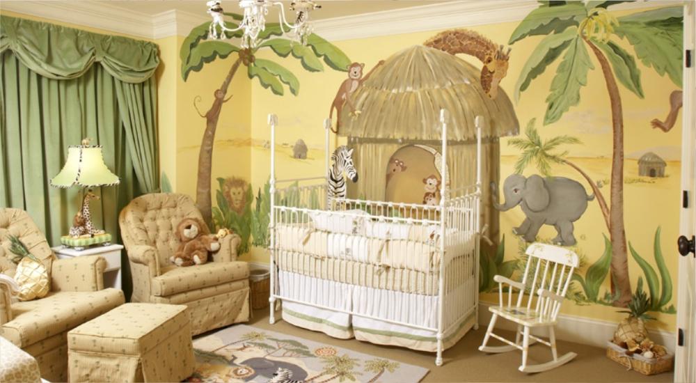 Kamar Bayi Bertema Hutan dan Hewan