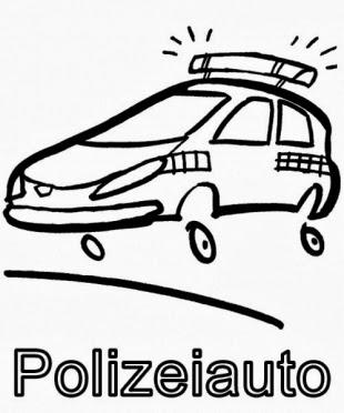 malvorlagen polizeiauto