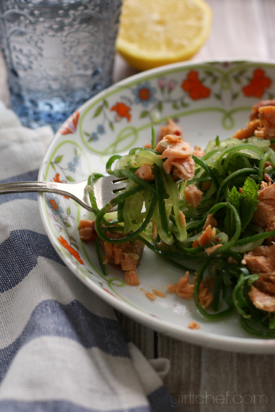 Salmon and Cucumber Noodle Salad