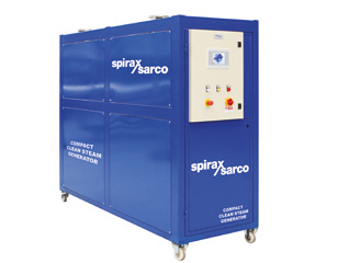 packaged clean steam generator with all needed controls and specialties