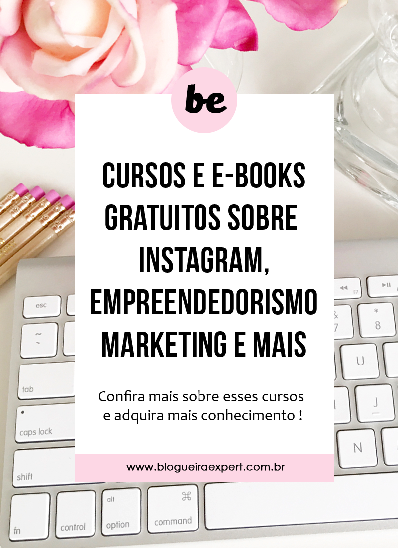 Cursos gratuitos e online sobre marketing digital, negócios e instagram