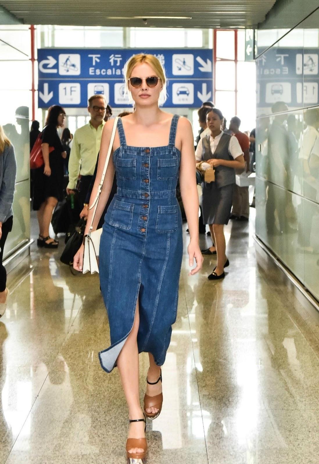 Margot Robbie Arrives At Airport In Peking
