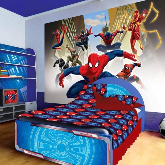 Ide Motif Wallpaper Dinding Untuk Kamar Tidur Anak Tema Spiderman