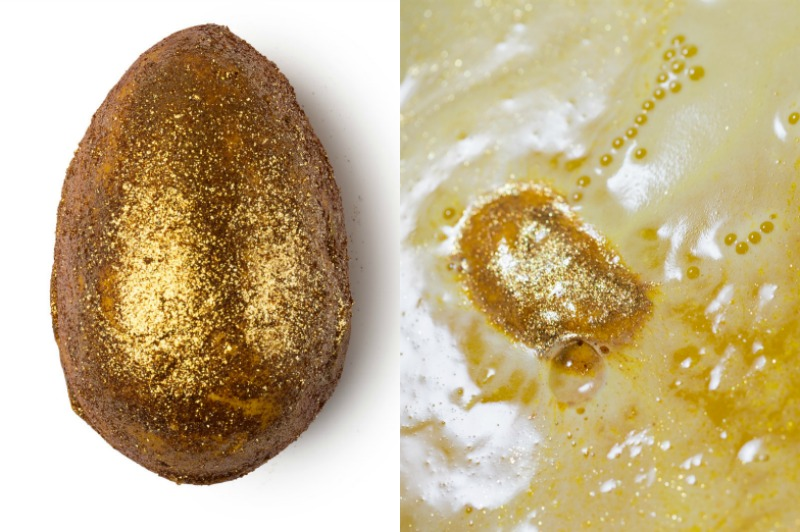 Lush Golden Egg Öl-Badebombe
