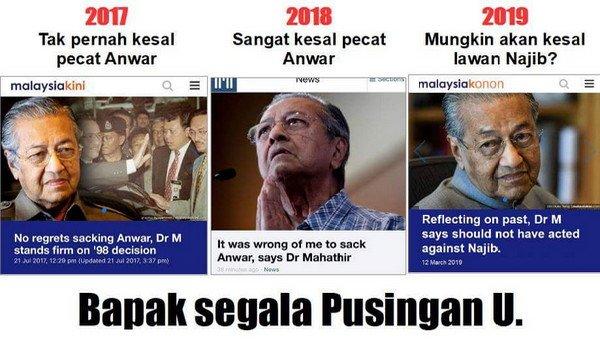 Mahathir bapa segala U-Turn