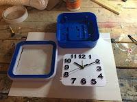 Alarm clock in pieces
